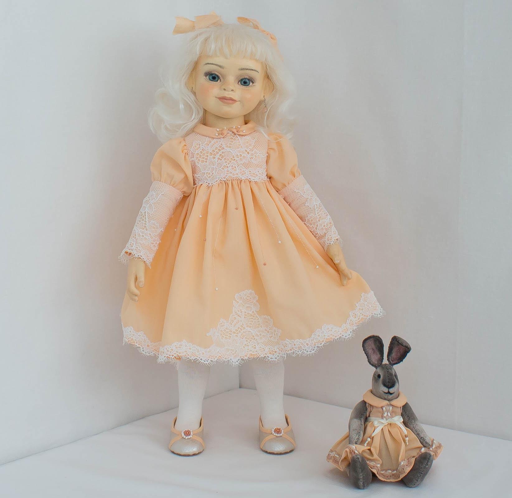 Альбина. Интерьерная кукла ручной работы.