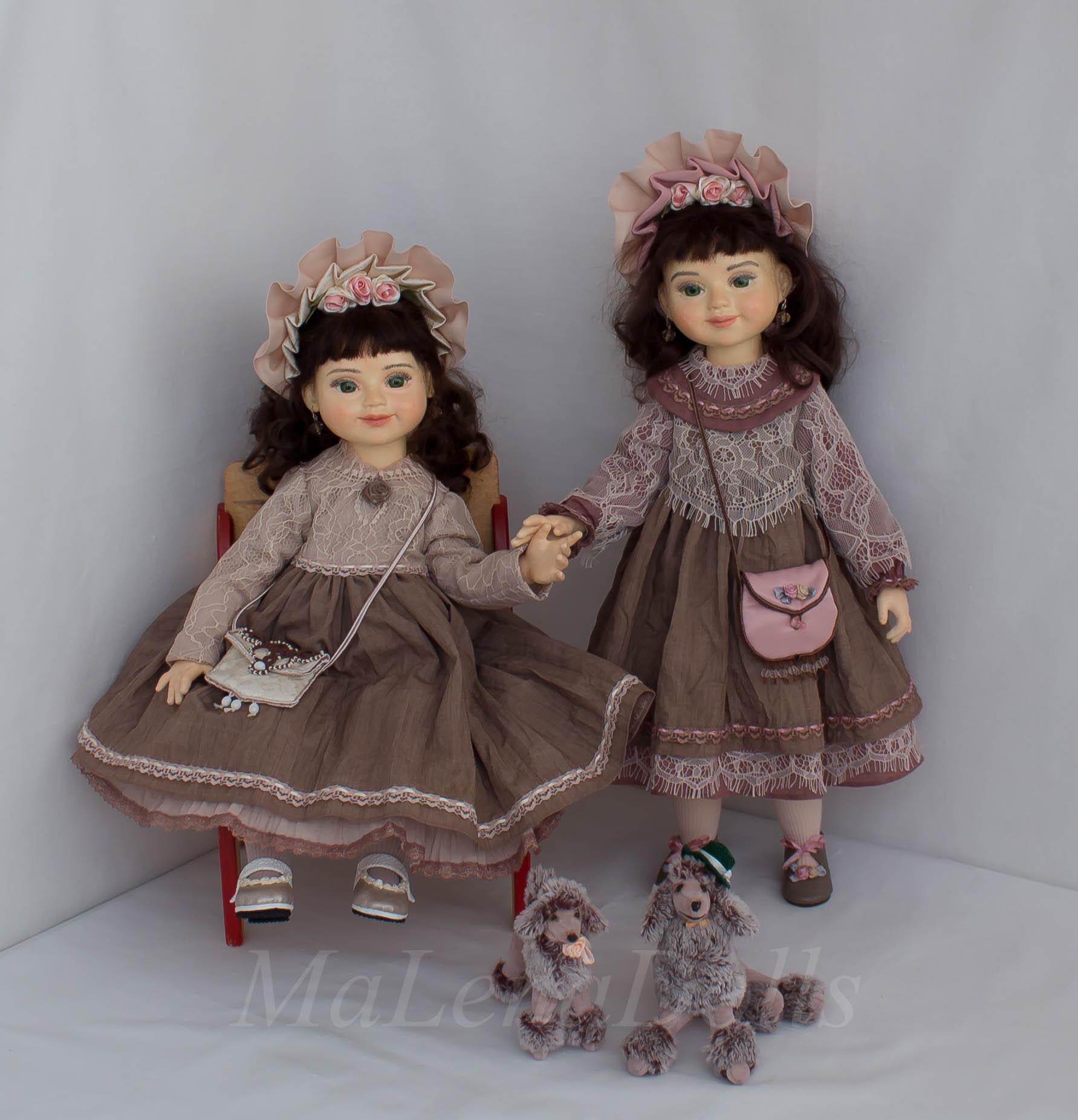 Анастасия и Александра. Куклы для интерьера