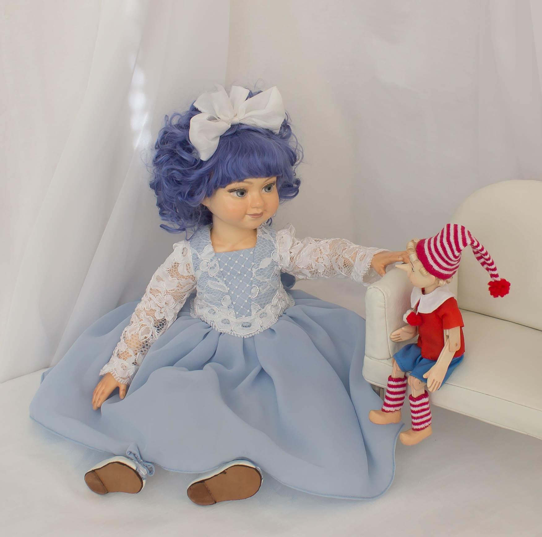 Мальвина. Интерьерная кукла ручной работы
