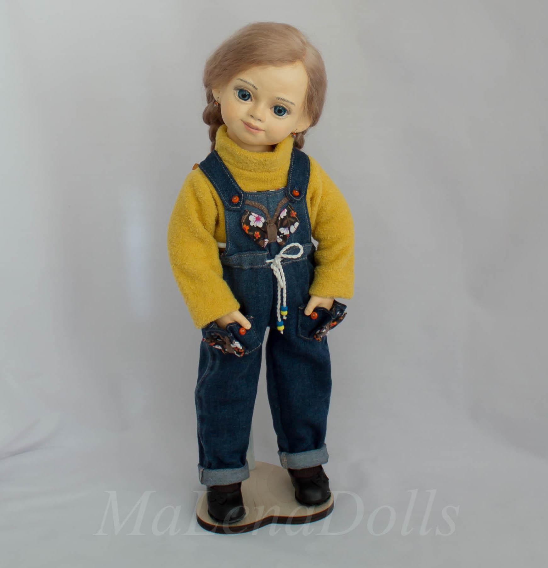Эксклюзивная кукла ручной работы.