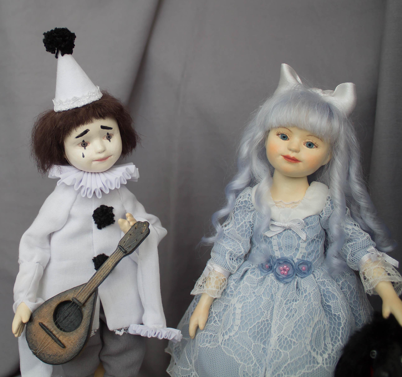 Мальвина и Пьеро авторские куклы