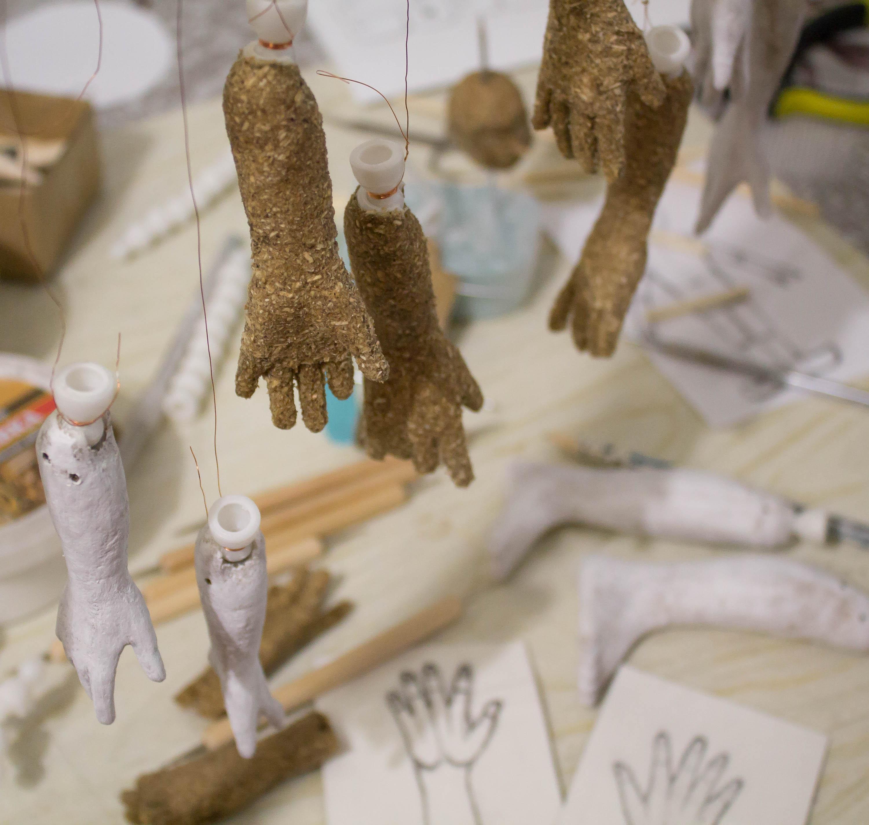 Процесс работы над куклами