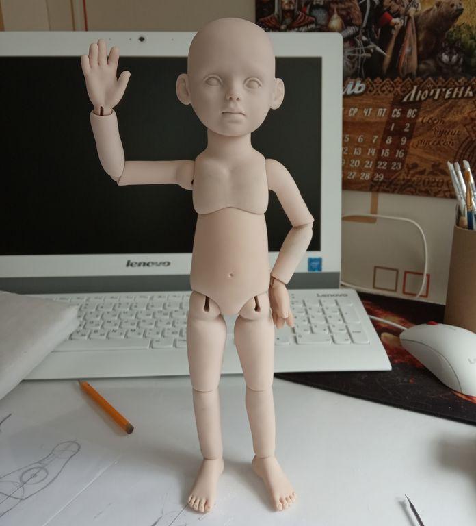 Шарнирная кукла. Первый опыт.